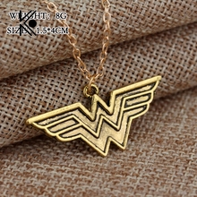 Free Shipping New Popular Wonder Woman Pendant Necklace Fashion Trendy Necklace Classic Pendant Necklace Wholesale And Retail