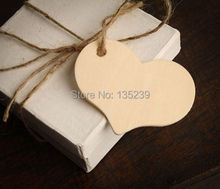 Wood Heart Hanging with rope - Wedding Favor Tags, Table Decor - Custom Font & Twine Color - Rustic. Whimsical. Natural.