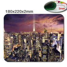 DIY New York Scenery Custom Rectangle Oblong Gaming Mousepad in 220mm*180mm*2mm - Stylish, durable office accessory and gift(China)
