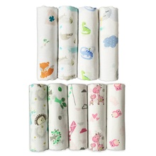 Giol Me Num Quality Baby Swaddle 70% Bamboo fibre 30% cotton carbasus newborn lovely blanket bath towel bed sheet wrap 120X120cm(China)