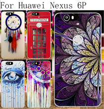 Hard Plastic Soft TPU Silicon Phone Cases For Huawei Nexus 6P 4G FDD LTE Cover Dream Cather Telephone Booth Protective Housing