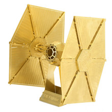 Star Wars TIE FIGHTER Golden 6 Inch 2 Sheets Creative Gift Brass Chinese Metal Earth 3D Metal Model Etching Puzzle