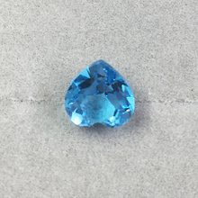 Good craft 7mm heart cut topaz loose gemstone for DIY jewelry 1ct weight light blue topaz stone(China)