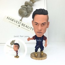 Soccerwe dolls figurine football stars 10# Neymar Prs 17-18 Movable joints resin model toy action figure dolls collectible gift(China)