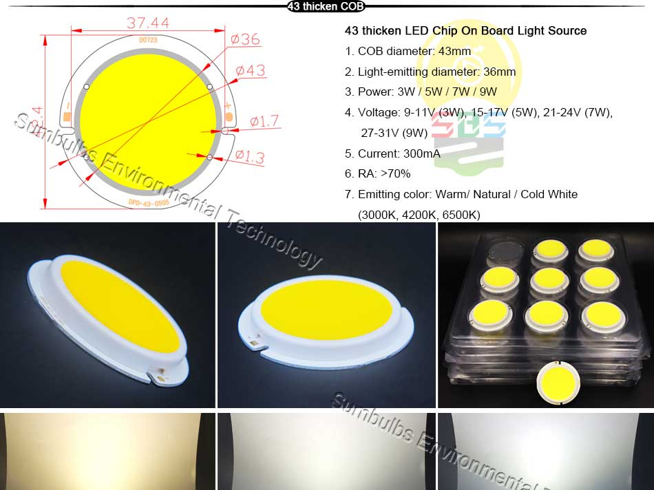 5W 10W 20W 30W 50W 200W Rounded COB LED Light Source Warm Natural Cold White Integrated Circular LED Chip On Board (4)