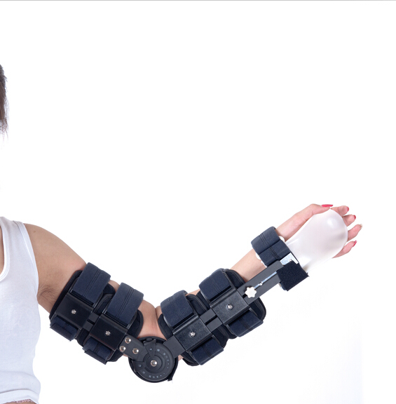 Free Shipping Double Wheel Adjustable Delux Hinged Arm Brace Arm Orthosis Elbow-joint Mobilizer Orthosis for Elbow Arm Support<br><br>Aliexpress