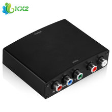 Mini Component 5 RCA Video YPbpr RGB + R/L Audio To HDMI Converter Box Adapter Support HD 1080P HDTV Monitor