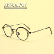 Round metal eyeglasses frame vintage optical eye glasses clear lenses fashion brand designer eyewear women men small TR90 new