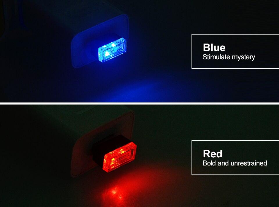 Mini Wireless Car Atmosphere Light LED USB Night Light Cigarette Lighter Decorative Lights Car Styling Truck PC Laptops Kit (6)