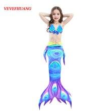 VEVEFHUNG Little Children Mermaid Tails Swimming Costume Mermaid Cosplay Kids Girls Swimming Suit Bathing Suit Swimwear