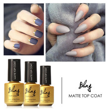 FOCALLURE  6ml Matt Matte Top Coat Nail Gel Polish Nail Art Tips Dull Finish Top Coat Gel Long Lasting Gel Lacquer
