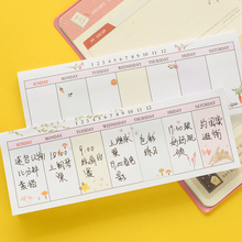 Free shipping Sticky n times stickers memo pad n times stickers weekly memo pad decoration self adhesive plan this week planner