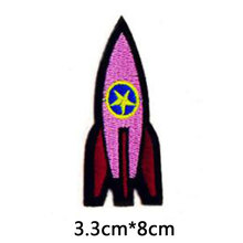 1PC Pink Rocket Embroidered Patch for Clothing Sew Applique Fabric Clothes Badge Garment DIY Apparel Accessories(China)