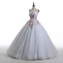 3D Flower Ball Gown Photography  Wedding Dress Bridal Dress robe de mariage mariee princesa wedding dresses 2017 wedding gown