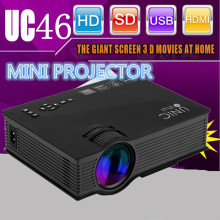 UNIC UC46 Wireless Mini LCD Portable Projector 800x480 1200 Lumens 1080P WIFI Home Theater LED Video Projector UC40 28 30 50 46