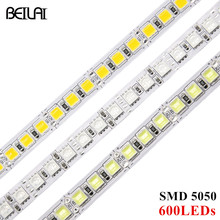 BEIYUN Ultra bright DC 12V RGB LED Strip 5050 SMD 5M 600LED Not Waterproof Fita LED Light Flexible Neon Tape Ledstrip Lighting(China)