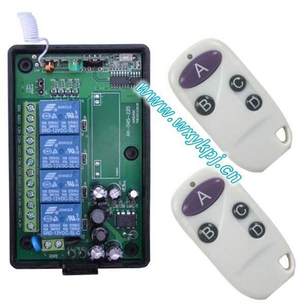 220 multifunctional wireless remote control switch white waterproof key wireless remote control<br><br>Aliexpress