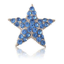 Five star rhinestone brooch men brooch pin jewelry gift for Valentine's Day Accessories costume jewelry brooches