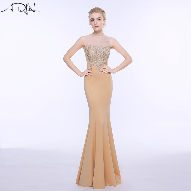 ADLN 2017 Stock Mermaid Evening Dresses Long Formal Royal Blue Party Gowns Cheap Prom Wear robe de soiree longue 12