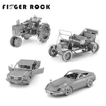 Finger Rock 3D Metal Puzzles DIY Model Gift World's Vehicle Ford Car Taxi Beetle Car Tractor Jigsaws Toys Present Gift