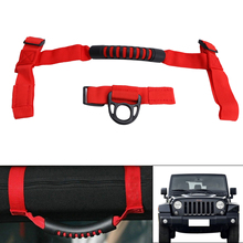 Unique Designs Red Black Car Grab Handles Grip Handle with Storage Bag For Jeep Wrangler YJ TJ JK JKU 1987-2016 /5