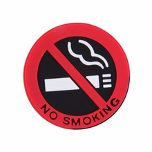 New best No smoking logo stickers car stickers Free shipping for bmw vw mazda kia benz toyota audi skoda Peugeot(China)