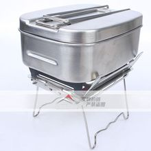 Cookware Multifunctional Tableware Outdoor Stove Camping Stainless Steel Cutlery Soldier Lunch Box