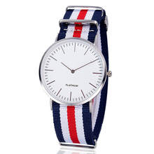 Fashion Nylon Fabric Super Thin Watch Casual Women Wristwatch Quartz Watch Relogio Feminino Hot Selling 1340