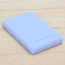 "Hot Sale High Quality Blue External Enclosure for Hard Disk USB2.0 Sata Durable Portable Case 2.5"" Inch Hdd Hard Drive Blue"