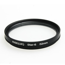 52MM 6 Point Star Filter Kit for Canon EF 18-55mm 50mm 85mm Camera Lens free shipping