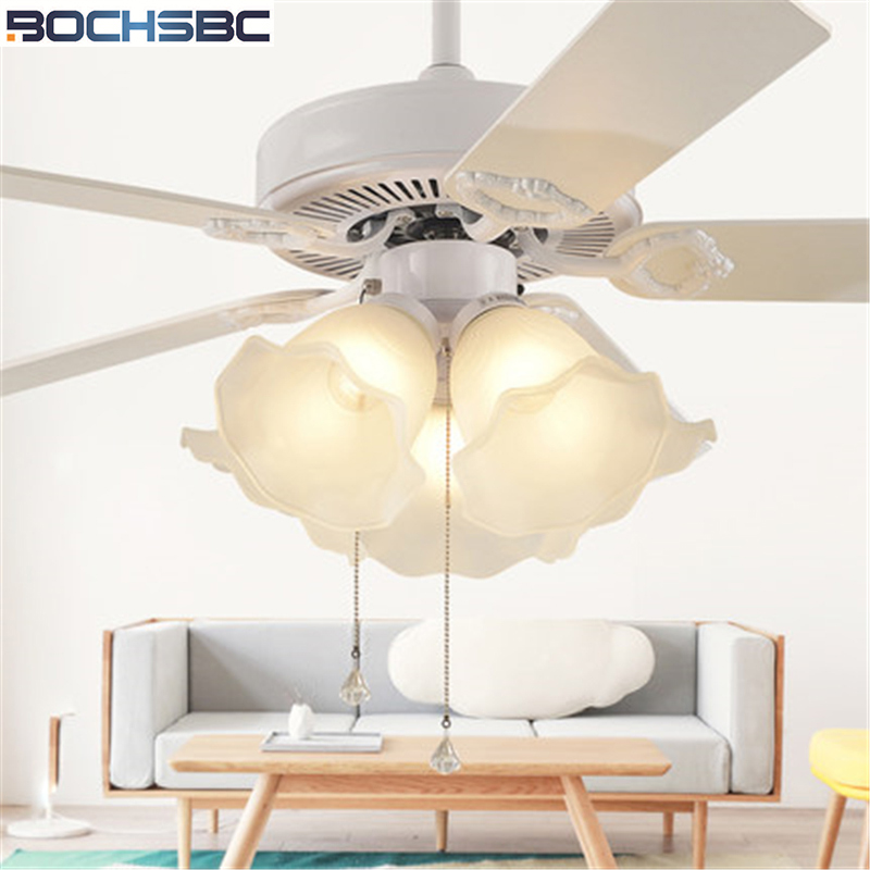Official Website Lukloy Modern American Restaurant Ceiling Fan Lamp Pendant Light Living Room Bedroom European Retro Wood Leaf Fan Light Numerous In Variety Ceiling Fans