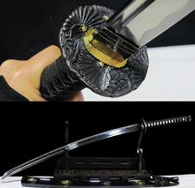 Real Handmade Quenched High Carbon Steel Full Tang Blade Japanese Katana Samurai Battle Ready Sword sharpened(China)
