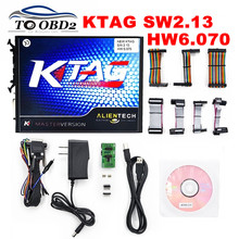 High Performance New KTAG 2.13 Hardware V6.070 Alientech K TAG Master V2.13 Auto ECU Programming Tool No Tokens Limited