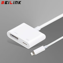 BEILINK New Arrive High Quality Light Lighting to AV HDMI/HDTV TV Digital Cable Adapter For iphone 5 5S 6 6s 7 7 plus For ipad 5
