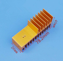 Fast Free Ship High quality aluminum fin F type radiator dense tooth heat sink 78*40*26MM High power transistor heat sink