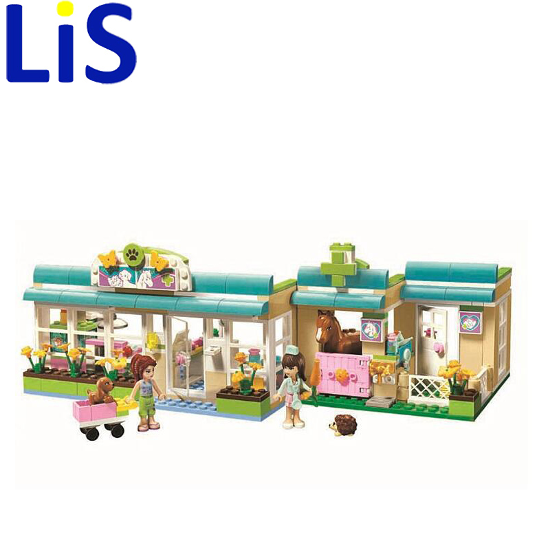 (Lis) 10169 Building Blocks Friends Heartlake Pet Hospital Assemble Educational Bricks Toys for Girls <br>