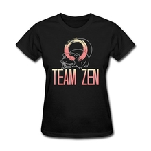 Team Zen Women Top Quality T Shirts Awesome Big Girls Father's Day Gift T Shirts Classic Collar Tees Shop(China)