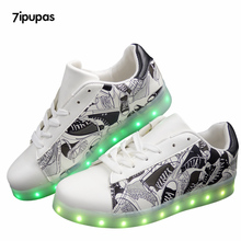 7ipupas Unisex luminous Led shoes Usb Charge lights up Men&Adults Glowing Shoes Neon Casual 11 Colorfull Fluorescence Led shoes