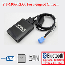 Yatour car CD USB SD AUX player for Peugeot Citroen RD3