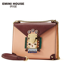 EMINI HOUSE Indian Style Flap Bag Original Chain Bag Split Leather Women Messenger Bags Crossbody Bags For Women Shoulder