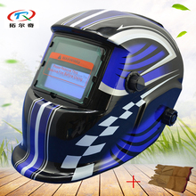 Welding Helmet auto darkening Welder welding Mask with cow leather Glove TIG Safety Professional factory fast ship HD01(2200DE)Y(China)