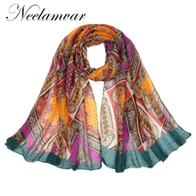 Neelamvar new design scarf women Autumn Winter Bohemia style scarves wraps big plaid long shawls voile hijab as a festival gift(China)