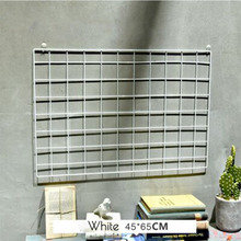 Hot sale Iron mesh grid photo wall iron frame clip hanging INS photographic fresh decoration creative personality Nordic shelf(China)