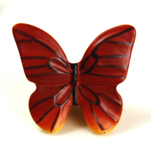 Red butterfly Resin drawer handles Kitchen Cabinet cupboard door Furniture Handle Kids room closet Knobs Pulls