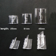 Small Light Mini Clear Transparent Acrylic Plastic Display Furniture Cabinet Door Window Music Box Case Hinge Piano Plexiglass(China)