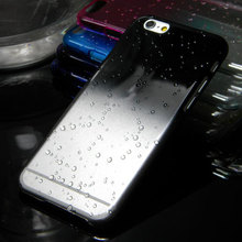 3D Water Drop Dripping case for iphone 6 6 plus clear crystal cover case total 9 colors in stock(China)