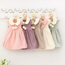 Korea kitchen towel Princess dress super-absorbent towel hanging towel coral velvet cute new trend style skirt hand towel
