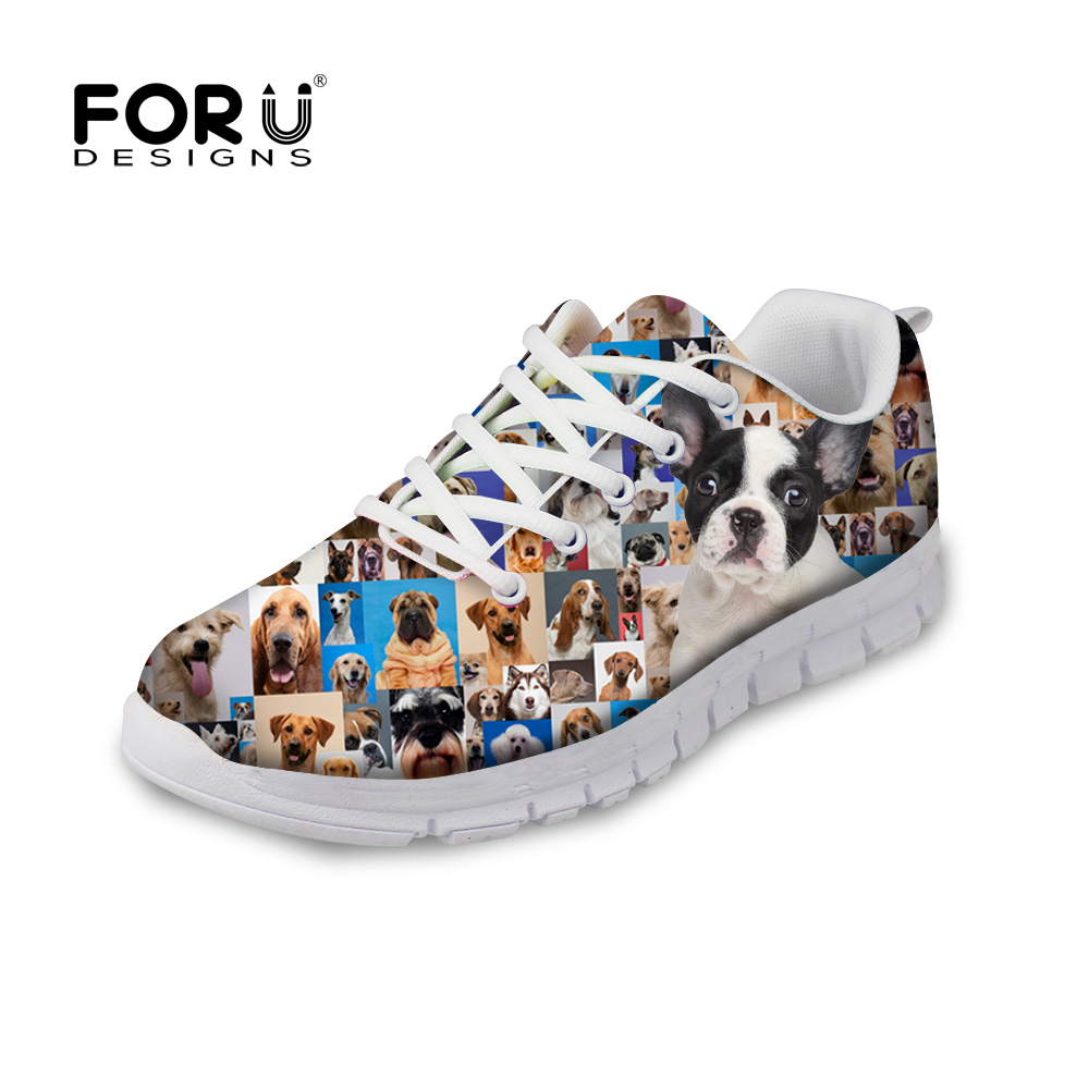 2016 Women Flats Shoes Lady Zapato Platform Shoes Female Zapatillas Mujer Leisure 3D Animals Dog Platform Footwear Shoes<br>