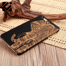 U&I Original Wood Cell Phone Case for iPhone 5 5S 6 6S 6PLUS 7 7Plus Apple Accessories Black Wooden Cover Fundas custom factory