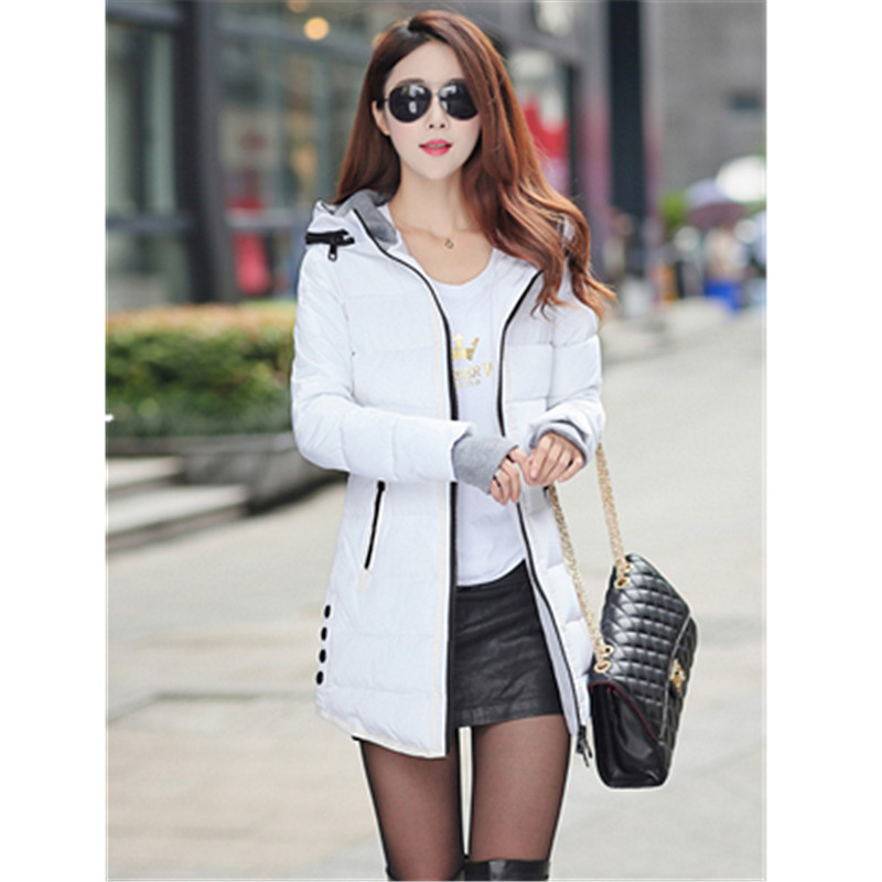 Free Shipping New Winter Feather Female Cotton-padded Clothes  Long Thin With Thick Cotton-padded ClothesОдежда и ак�е��уары<br><br><br>Aliexpress